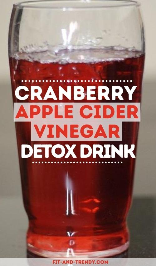 Cranberry Detox Cocktail With ACV